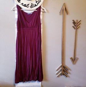Velvet Anthropologie Burgandy Bubble Hem Dress M